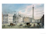 Sackville Street, Dublin, Showing the Post Office and Nelson's Column - Samuel Frederick Brocas