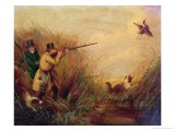 Duck Shooting Amongst Reeds - Samuel John Egbert Jones