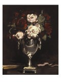 Red and White Roses in a Silver Urn, c.1897 - Samuel John Peploe