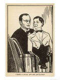Edgar Bergen with His Ventriloquists Dummy Charlie Mccarthy Who is Always Pert and Quick-Witted - Samuel Nisenson