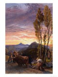 Oxen Ploughing at Sunset - Samuel Palmer