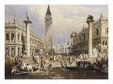 The Entrance to St Mark's Square, Venice - Samuel Prout