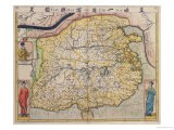 Map of China with Inset Portraits of Matteo Ricci and Two Chinese Costumed Figures, circa 1625-26 - Samuel Purchas
