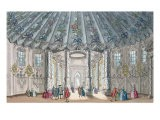 Interior View of the Elegant Music Room in Vauxhall Gardens, engraved by H. Roberts, 1752 - Samuel Wale