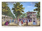 View of the Grand Walk at the Entrance of Vauxhall Pleasure Gardens with the Orchestra Playing - Samuel Wale