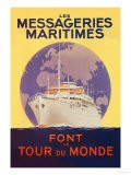 Take a Cruise Around the World with les Messageries Maritimes - Sandy Hook