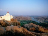 Hampi Temple Overlooking River and Rocky Plains - Sara-jane Cleland