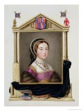 """Portrait of Catherine Howard 5th Queen of Henry VIII from """"Memoirs of the Court of Queen Elizabeth"""" - Sarah Countess Of Essex"""