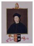 """Portrait of Cuthbert Tunstall Bishop of Durham from """"Memoirs of the Court of Queen Elizabeth"""" - Sarah Countess Of Essex"""