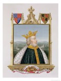 """Portrait of Edward III King of England from 1327 from """"Memoirs of the Court of Queen Elizabeth"""" - Sarah Countess Of Essex"""