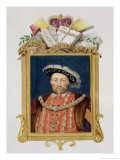 """Portrait of Henry VIII as Defender of the Faith from """"Memoirs of the Court of Queen Elizabeth"""" - Sarah Countess Of Essex"""