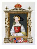 """Portrait of Jane Seymour 3rd Queen of Henry VIII from """"Memoirs of the Court of Queen Elizabeth"""" - Sarah Countess Of Essex"""