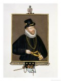 """Portrait of Sir John Hawkins (1532-95) from """"Memoirs of the Court of Queen Elizabeth"""" - Sarah Countess Of Essex"""