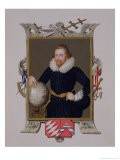 """Portrait of Sir Walter Raleigh from """"Memoirs of the Court of Queen Elizabeth,"""" Published in 1825 - Sarah Countess Of Essex"""