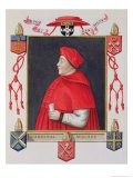 """Portrait of Thomas Wolsey Cardinal and Statesman from """"Memoirs of the Court of Queen Elizabeth"""" - Sarah Countess Of Essex"""