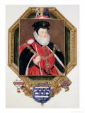Portrait of William Cecil (1520-98) 1st Baron Burghley from Memoirs of the Court of Queen Elizabeth - Sarah Countess Of Essex
