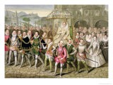 """Queen Elizabeth I in Procession with Her Courtiers from """"Memoirs of the Court of Queen Elizabeth"""" - Sarah Countess Of Essex"""