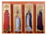 Saints Ambrose, Jerome, Augustine and Gregory - Sassetta
