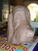 sculpture animaux : BASSET HOUND