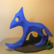 sculpture animaux bleu impression animale furtif : Bleu