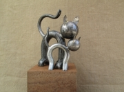 sculpture animaux outil chat metal animaux : Chaton câlin