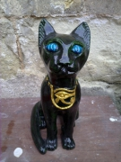 sculpture animaux penser regard douceur eternite : bastet