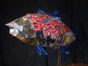 sculpture animaux thon rouge recyclage artistique : Last Red Tuna
