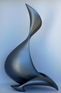 Sculpture design moderne contemporain fluide 609 - Statue contemporaine design ...