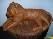 sculpture : lion