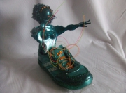 sculpture personnages cendrillon tennis fibre optique lacets : Cendrillon