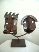 sculpture personnages couple love art brut art singulier : COUPLE