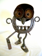 sculpture personnages ecolier sculpture metal art brut art singulier : bon point
