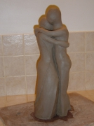 sculpture personnages : LA TENDRESSE