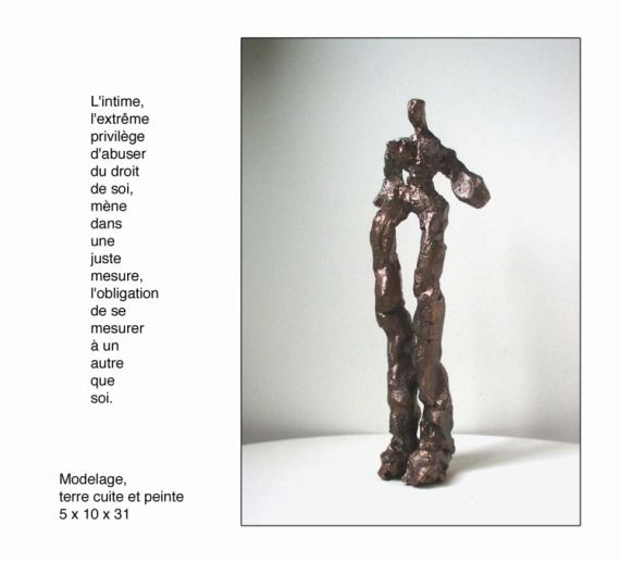 SCULPTURE Personnages Modelage Terre cuite  - L'intime