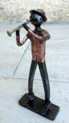 sculpture personnages musicien clarinettiste jazz orchestre : clarinettiste