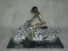 Sculptures artistes - Le motard