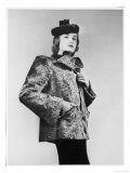 Short Length Coat in Grey Indian Lamb by Maurice with Decorative Suede Insets