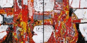 tableau abstrait abstrait contemporain abstract contemporary : Jack's of heart