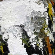 tableau abstrait abstrait contemporain abstract contemporary : La danse du dragon