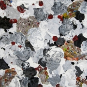 tableau abstrait abstrait contemporain abstract contemporary : Les fleurs du mal