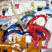 tableau abstrait abstrait contemporain abstract contemporay : La comète