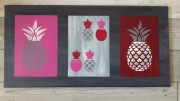 tableau abstrait abstrait moderne ananas : Les nanas roses