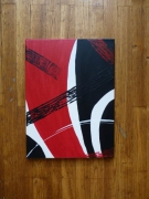 tableau abstrait abstrait noir rouge : Abstract Painting