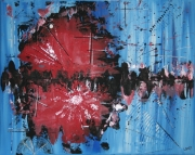 "tableau abstrait acrylique abstrait lany moderne : ""Zenith"""