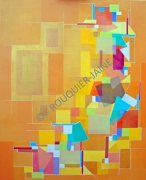 tableau abstrait allegresse acrylique sur lin peinture contemporai abstraction geometri : ALLEGRESSE