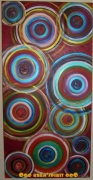 tableau abstrait cercle colore tendance deco : Ooo Circle ooO