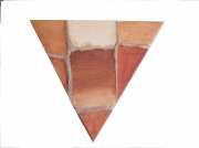 tableau abstrait feminite terre relief triangle : Triangle