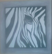 tableau abstrait foret force courage : ZEBRA