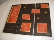 Tableau peinture choc galerie creation for Peinture orange brule