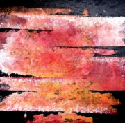 tableau abstrait orange : HORIZON